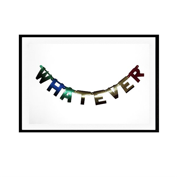 """Brooklyn-based artist William Eadon creates graphically bold work with a heavy dose of whimsy, and a personal favorite of mine is his piece titled """"Whatever"""" ($75-$310). Because sometimes we all need a visual reminder not to take life too seriously. — Lindsay Miller, entertainment editor"""