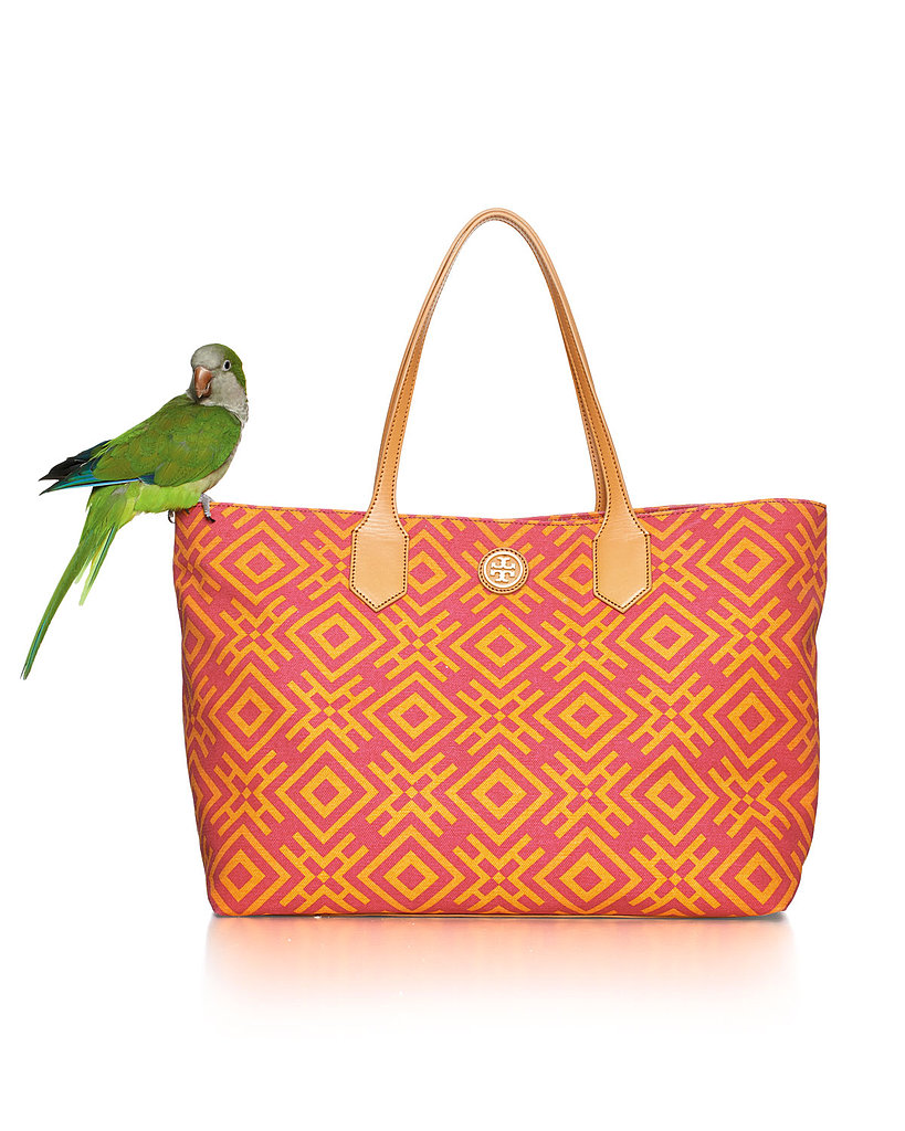 Tory Burch Geometric-Print Canvas Tote Bag ($295)