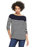 Gap's Eversoft Envelope-Neck Block Stripe Sweater ($45) is as soft as it sounds.