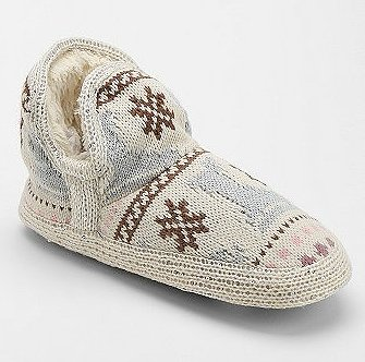 Every girl need a stylish pair of slippers, like this Muk Luks Amira Snowday Slipper-Sock Ankle Boot ($38).