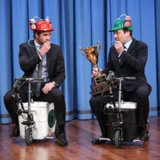 Video Of Liam Hemsworth Racing Jimmy Fallon