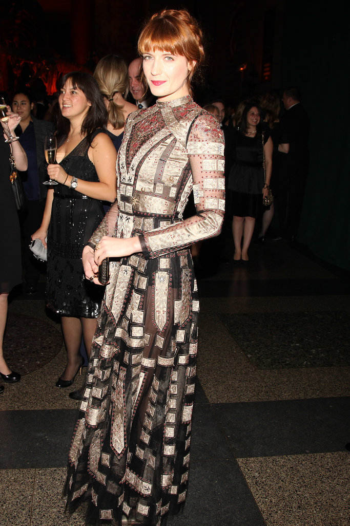 Florence Welch in Valentino at the Museum Gala at the American Museum of Natural History.