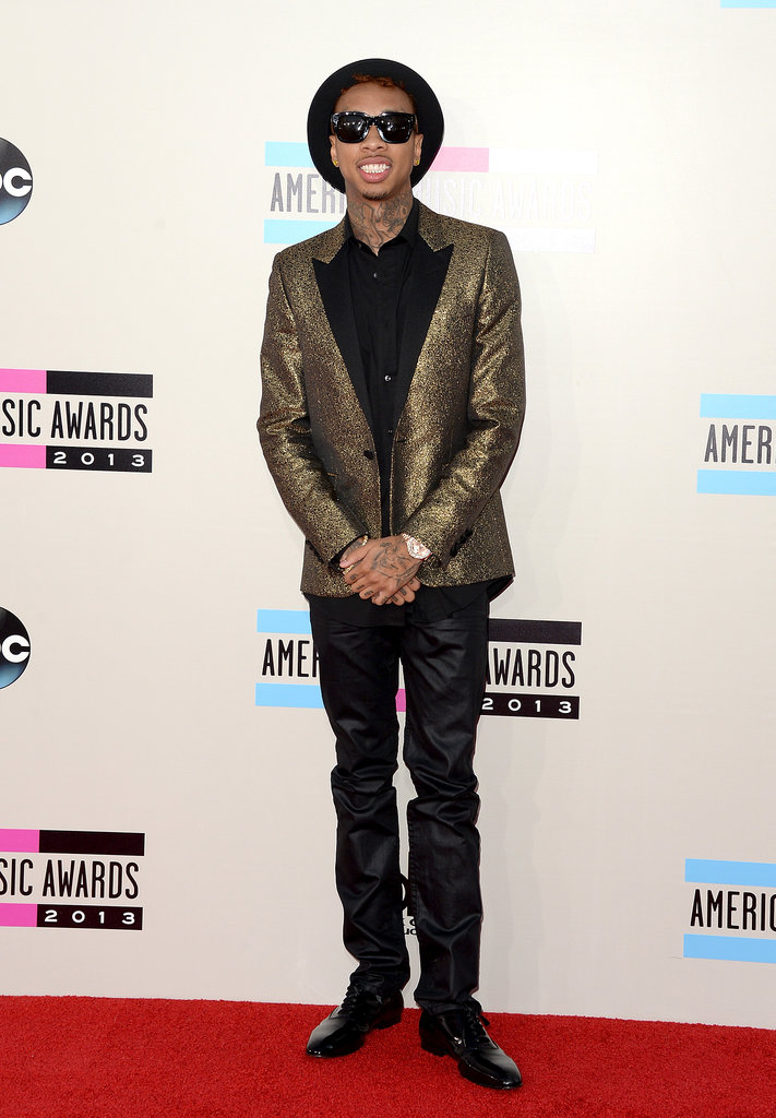 Wiz Khalifa wore his sunglasses to the event.
