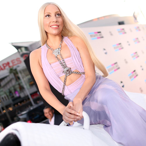 Lady Gaga in a Versace Dress at American Music Awards 2013