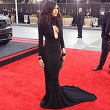 Naya Rivera shared a picture of her sexy black gown. Source: Instagram user nayarivera