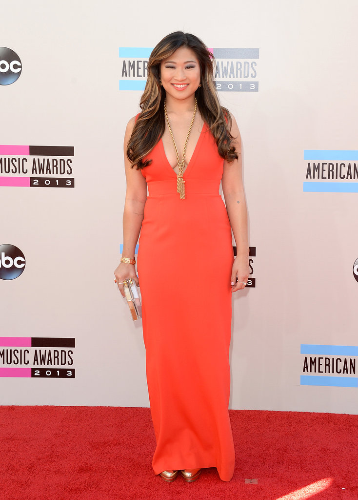 Jenna Ushkowitz wore orange.