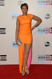 Jennifer Hudson rocked orange and pink.