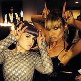 "Heidi Klum and Kelly Osbourne assumed their roles as ""fashion devils"" together. Source: Instagram user kellyosbourne"