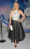 For the girlie girls among us, Kristen Bell has the perfect full-skirted frock — especially perfect when you know there will be dancing.