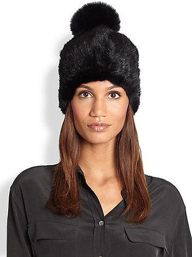 Adrienne Landau Fur Pom-Pom Hat