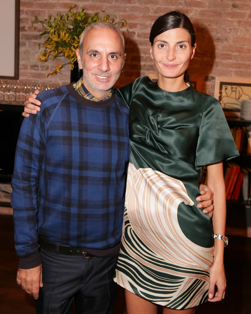 Alessandro Dell'Acqua and Giovanna Battaglia at the N°21 dinner.