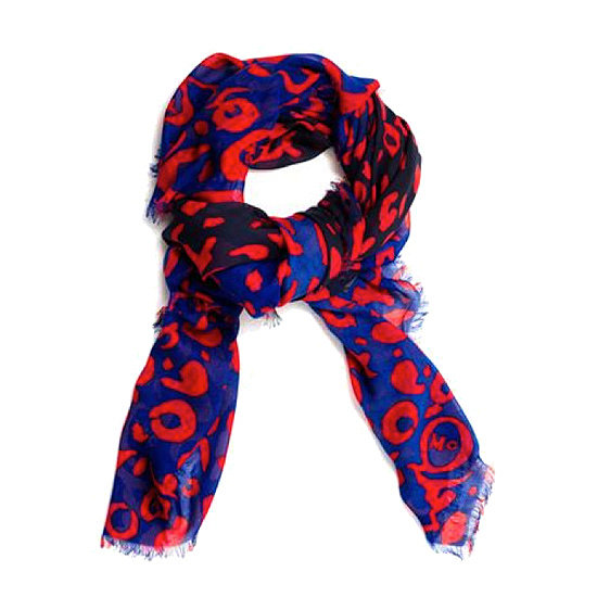 "McQ Alexander McQueen Printed Scarf ($225) ""A cashmere scarf is a dream for the luxe traveler in your life. Every jet-setter needs a supersoft accessory to cozy up with on the plane, and this bold animal-print MCQ Alexander McQueen makes the perfect gift!"""
