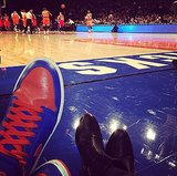 Date night meant his-and-hers kicks for Bryan Greenberg and Jamie Chung. Source: Instagram user jamiejchung