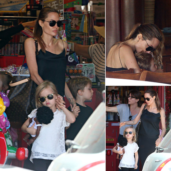 Angelina Jolie Can't Help But Shower Her Twins With Love