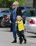 Gwen Stefani spent her Saturday in LA with Zuma Rossdale.