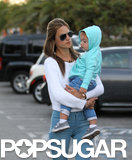 Alessandra Ambrosio stepped out in LA with her son, Noah, on Saturday.