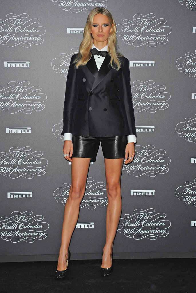 Karolina Kurkova's cool-girl take on the tux is a chic alternative to any party dress.