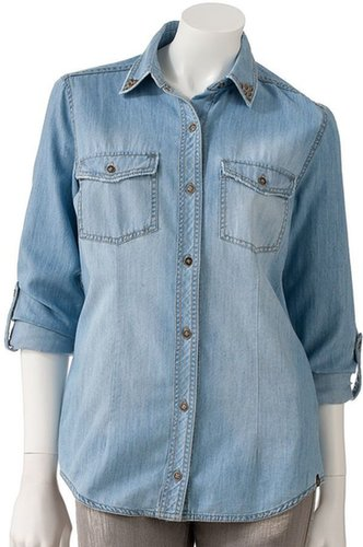 Rock & republic roll-tab chambray shirt