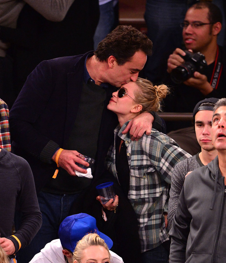 In November, Mary-Kate Olsen got love from boyfriend Olivier Sarkozy at a Knicks game in NYC.