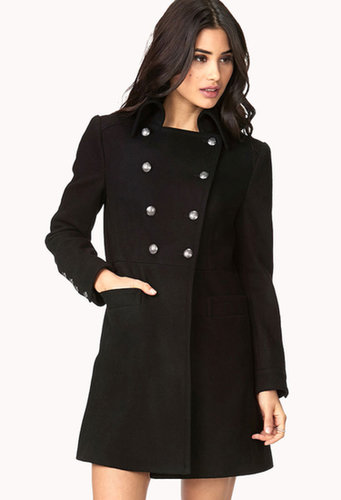 FOREVER 21 Sleek Double-Breasted Trench Coat