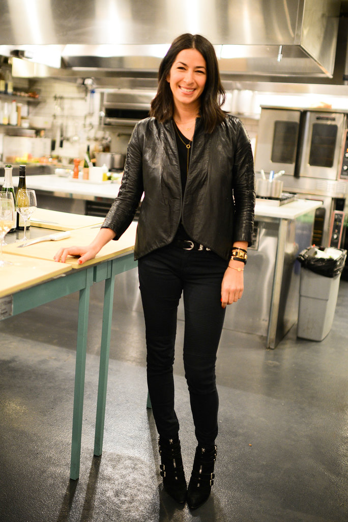 Rebecca Minkoff at her Friendsgiving cooking class.