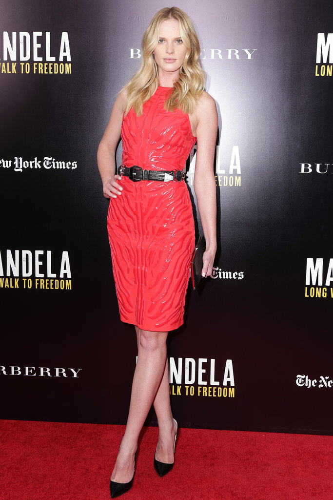 Anne Vyalitsyna at a screening of Mandela: Long Walk to Freedom.