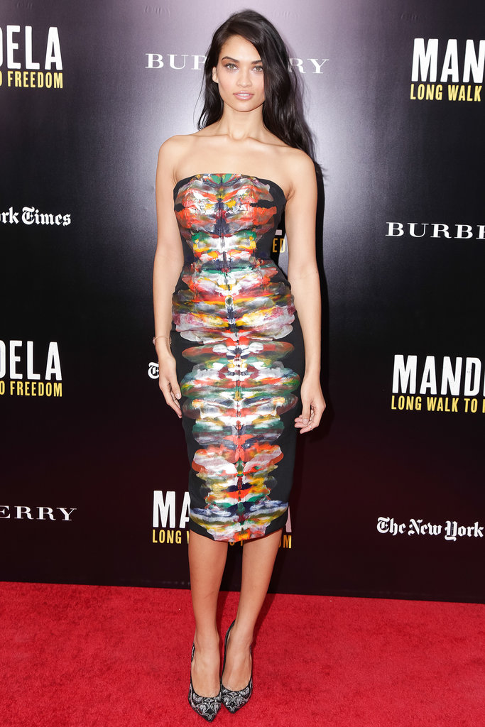 Shanina Shaik at a screening of Mandela: Long Walk to Freedom.