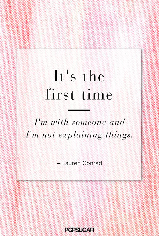 Lauren Conrad shared her insights on easy, effortless love.