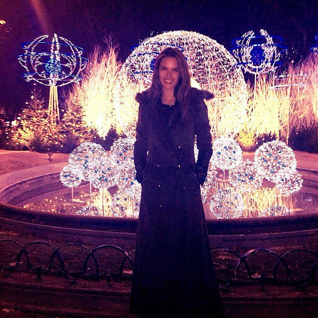 Alessandra Ambrosio bundled up and got into the holiday spirit. Source: alessandraambrosio