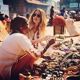 Lauren Conrad perused the selection at an outdoor flea market. Source: Instagram user laurenconrad