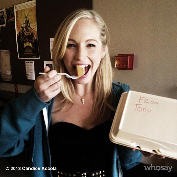 Candice Accola ate pumpkin pie for lunch.  Source: Instagram user craccola