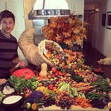 David Burtka showed off his cornucopia display. Source: Instagram user instagranph