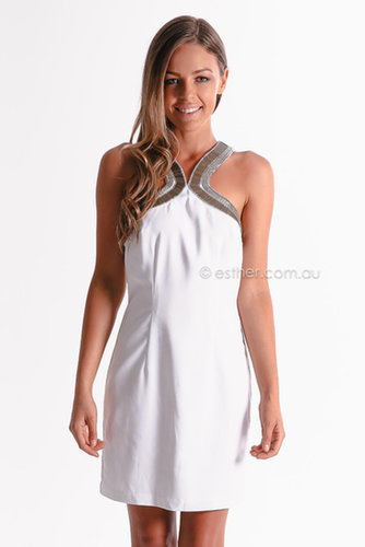 seduce opposites attract dress - white | Esther clothing Australia and America USA, boutique online ladies fashion store, shop g