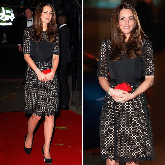Kate Middleton in Temperley Lace Dress at SportsAid Ball