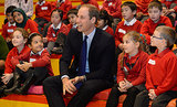 Prince William joined kids from Chandos Primary School during story time at Birmingham Library.