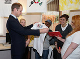 Prince William stopped at St Basils, a charity group that is working to prevent youth homelessness.