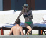 Diane Kruger and Joshua Jackson got a head start on their holiday fun when they popped up poolside in Cabo San Lucas, Mexico.