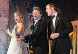 """Prince William performed """"Livin' on a Prayer"""" with Taylor Swift and Jon Bon Jovi during the Winter Whites Gala at Kensington Palace in London, England."""
