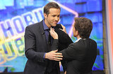 Ryan Reynolds got goofy when he appeared on El Hormiguero, a Spanish television show, in Madrid, Spain.