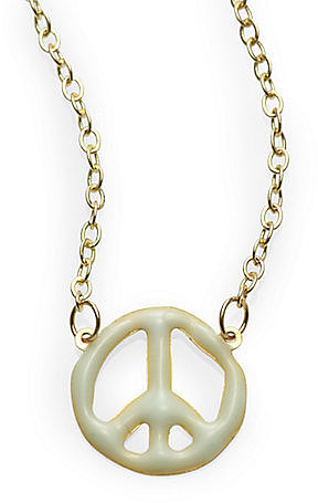 Scotch Shrunk Girl's Peace Charm Necklace