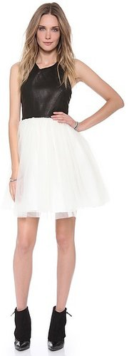 Alice + olivia Ginnifer Leather Party Dress