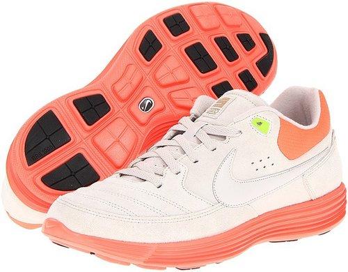 Nike - NSW Lunar Gato (Gamma Grey/Total Crimson/Electric Green/Gamma Grey) - Footwear