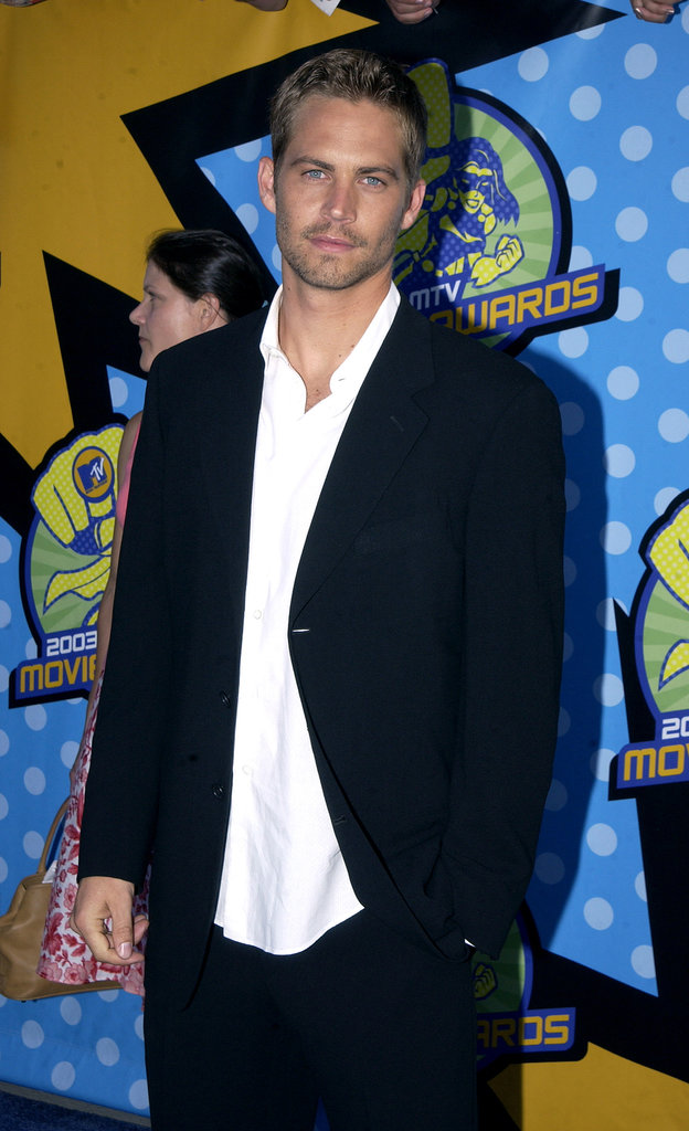 Paul Walker walked the red carpet at the MTV Movie Awards in May 2003.