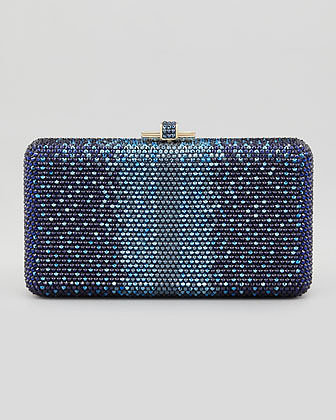 Judith Leiber Couture Airstream Large Ombre Clutch Bag, Champagne/Dark Indigo