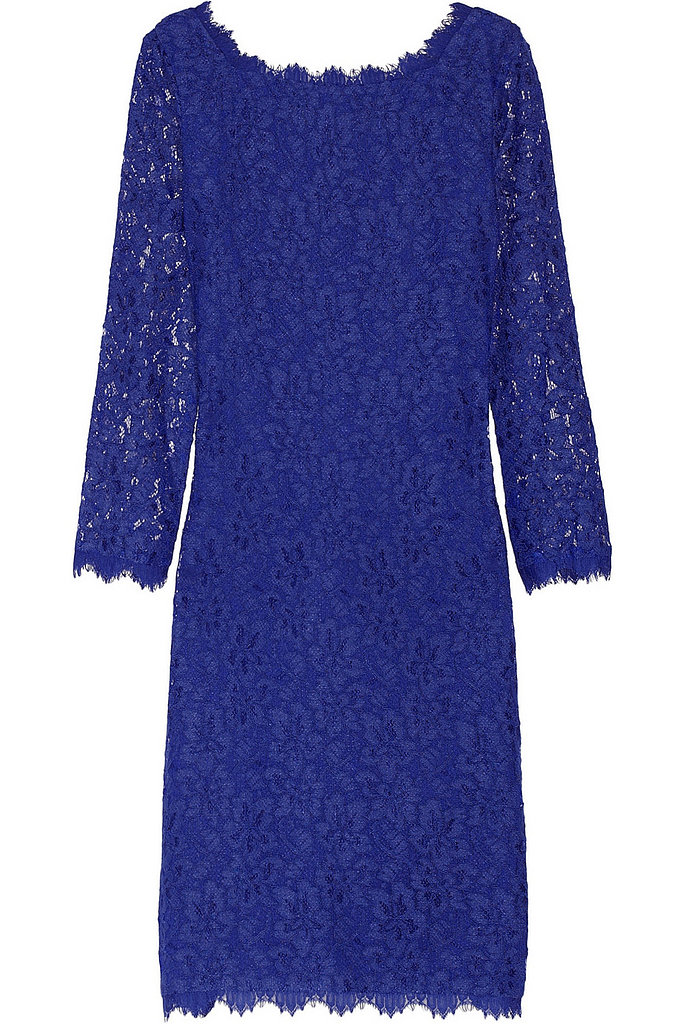 Diane von Furstenberg Zarita Blue Lace Dress ($195, originally $325)