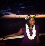 We hope that headpiece smelled as good as it looked! Source: Instagram user mindykaling