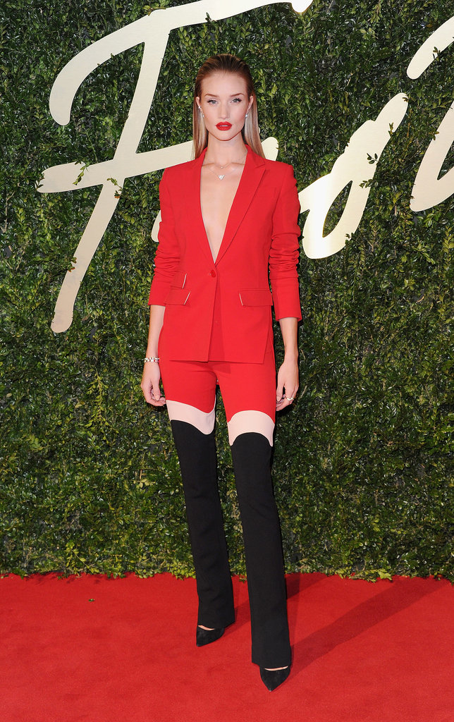 Rosie Huntington-Whiteley wore Antonio Berardi. Source: Getty