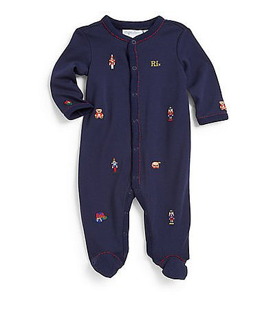 Ralph Lauren Infant's Schiffli Embroidered Coverall