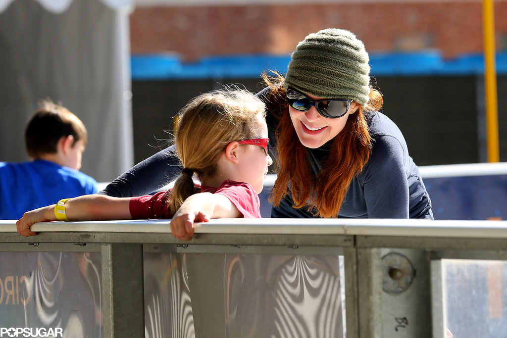 Marcia Cross went ice skating with her family in LA on Sunday.