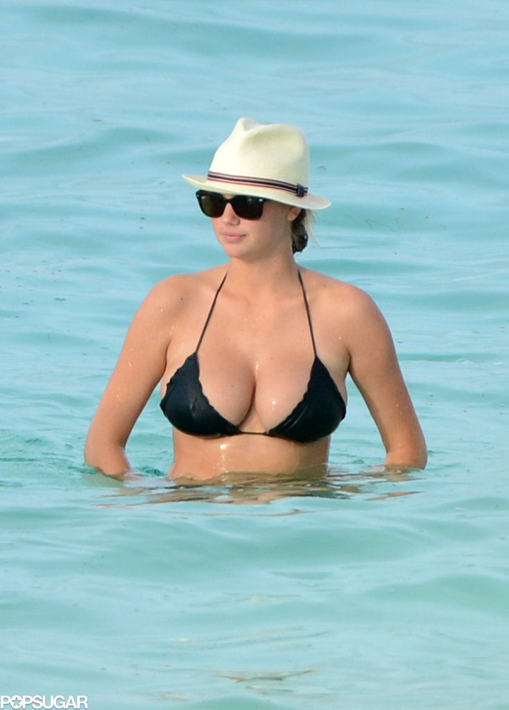 Kate Upton waded in the water during a July visit to the Bahamas.